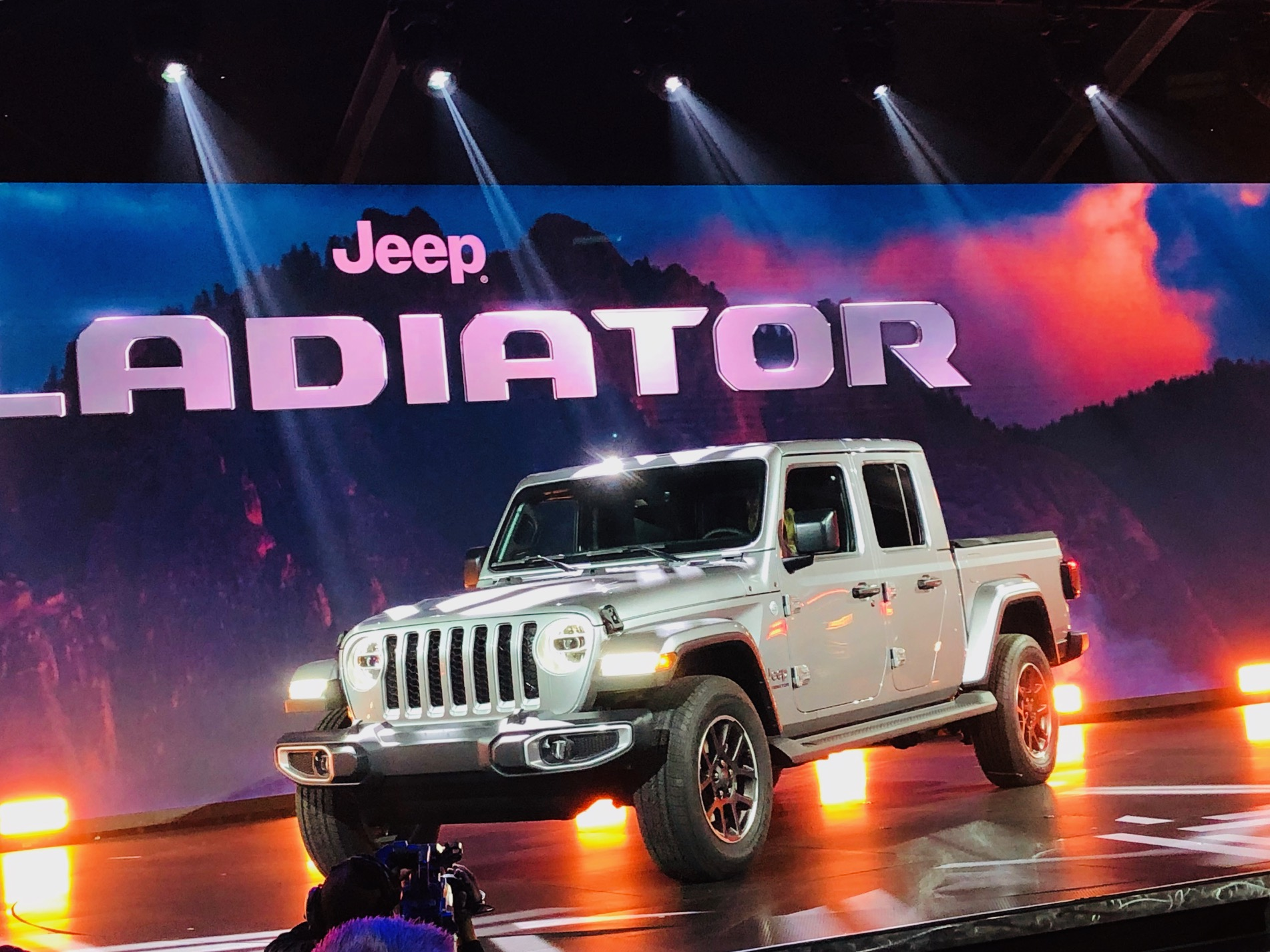 The 2020 Jeep Gladiator truck made its debut at the LA Auto Show on Wednesday. Photo by Keith Turner.