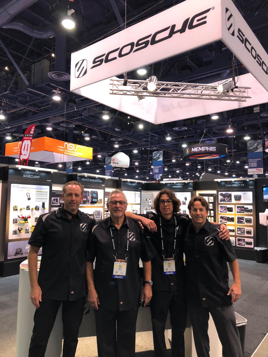 Three generations of the Alves family represented Scosche Industries at last week's SEMA Show. Shown from left to right: Kas Alv