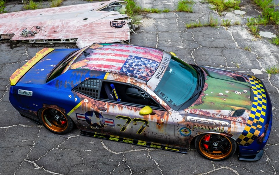 The global winner for the 2018 Wrap Like A King Challenge, the Mission Flyer 2.0 by MetroWrapz. Another warplane-inspired project, made possible by Supreme Wrapping Film, MPI 1105 and Conform Chrome films, brought the wrap king crown back to the U.S. for the first time since 2015.