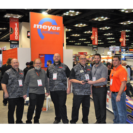 Meyer Distributing named Holley Performance as the recipient of its Performance Manufacturer of the Year award during the PRI Sh