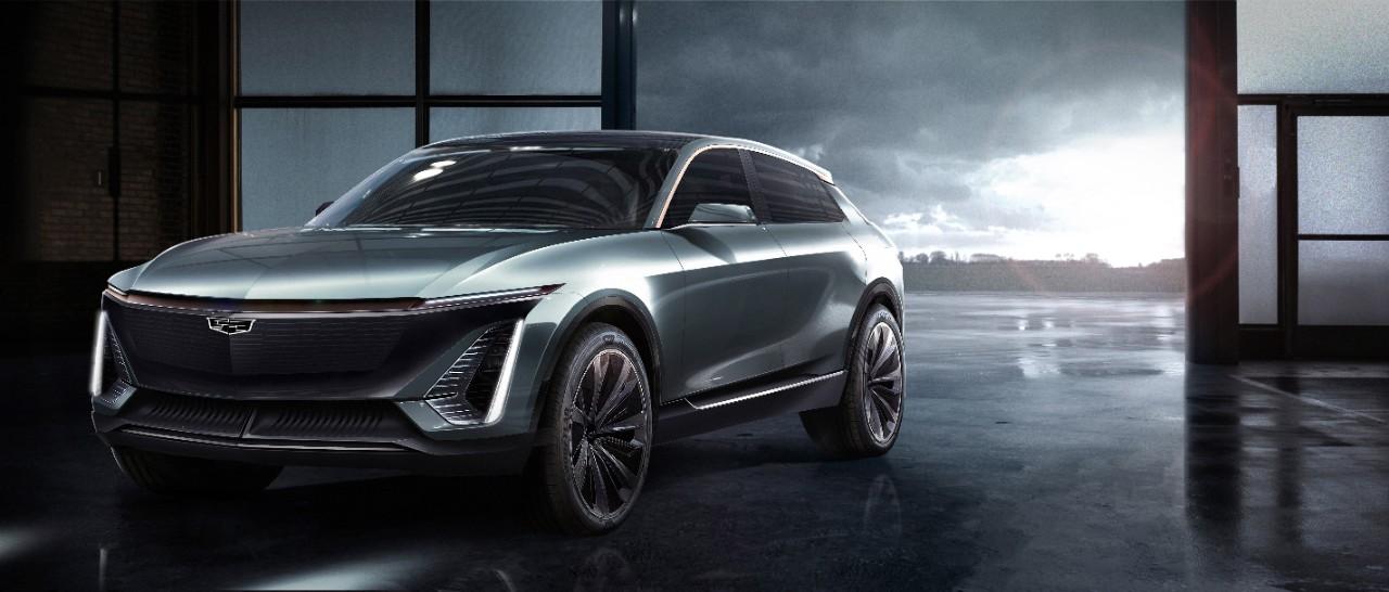 Rendering of Cadillac's new EV model