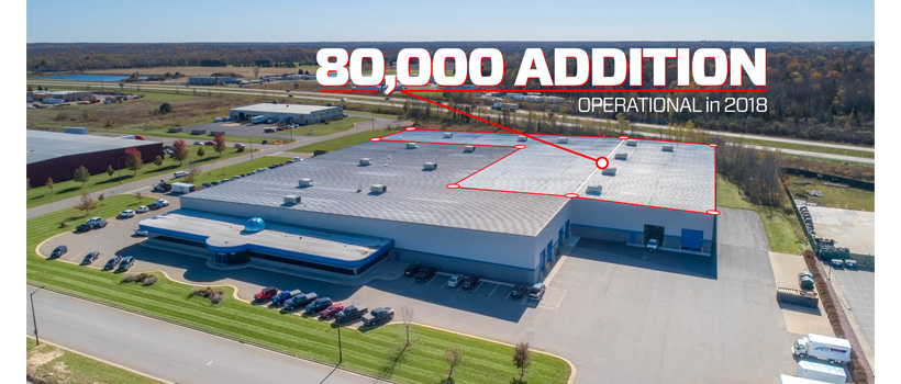 CTECH Manufacturing's Weston, Wisconsin facility has been expanded 80,000 feet.