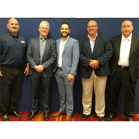 Shown left to right:Eric Brooks, Alpinebrand specialist;Mike Anderson, Alpinevice presidentand general manager;JC Iglesias
