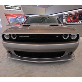 2018 Dodge Challenger on display in the Alpine booth at CES 2019. The car was customized by Petty's Garage of of Level Cross, No