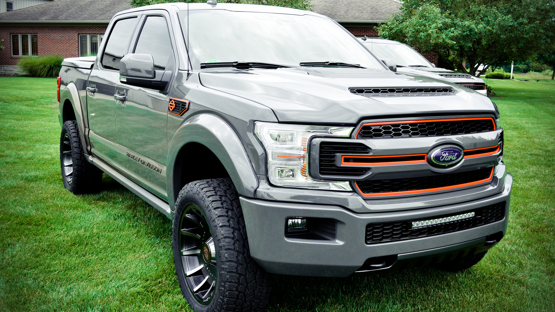 Harley-Davidson Motor Co. and Tuscany Motor Co. have introduced the 2019 Harley-Davidson F-150 pickup truck at the Chicago Auto