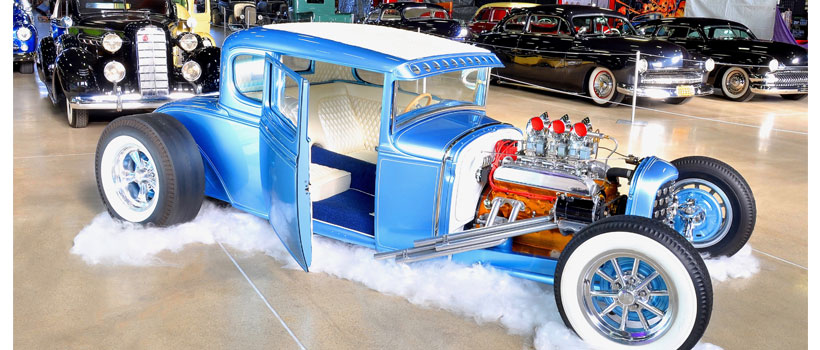 Done up with suicide doors, a Buick nailhead V-8 with six Strombergs and slammed stance, Mike Collman's '31 Ford Model A Coupe
