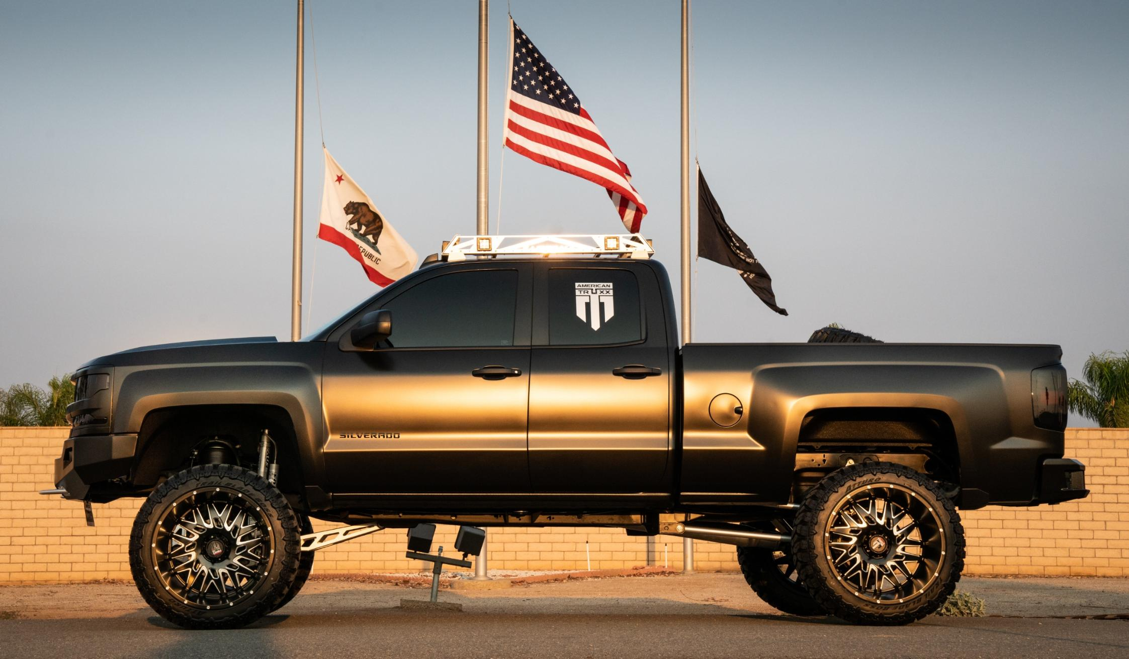 Meyer Chassis in Murrieta, California, was part of build to customize a Chevy Silverado 1500 for Damion Santiago, a disabled mil