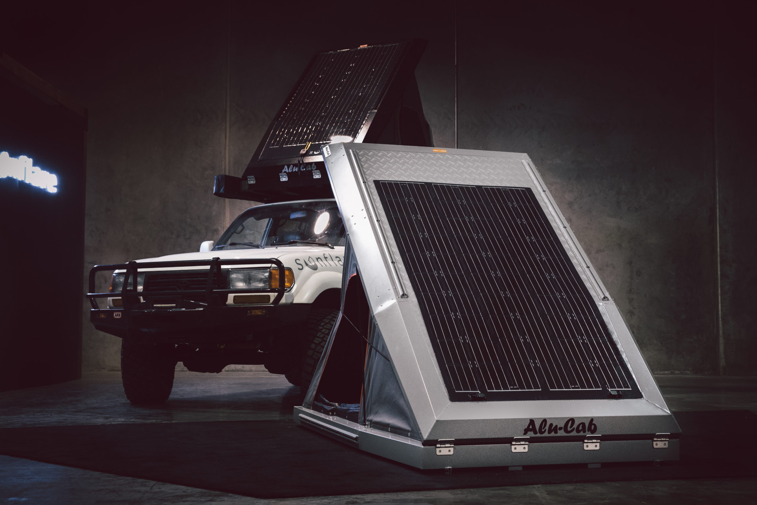 Sunflare's overland solar panels are now offered by New Jersey-based OK4WD, a shop offering off-road, 4x4, and performance truck