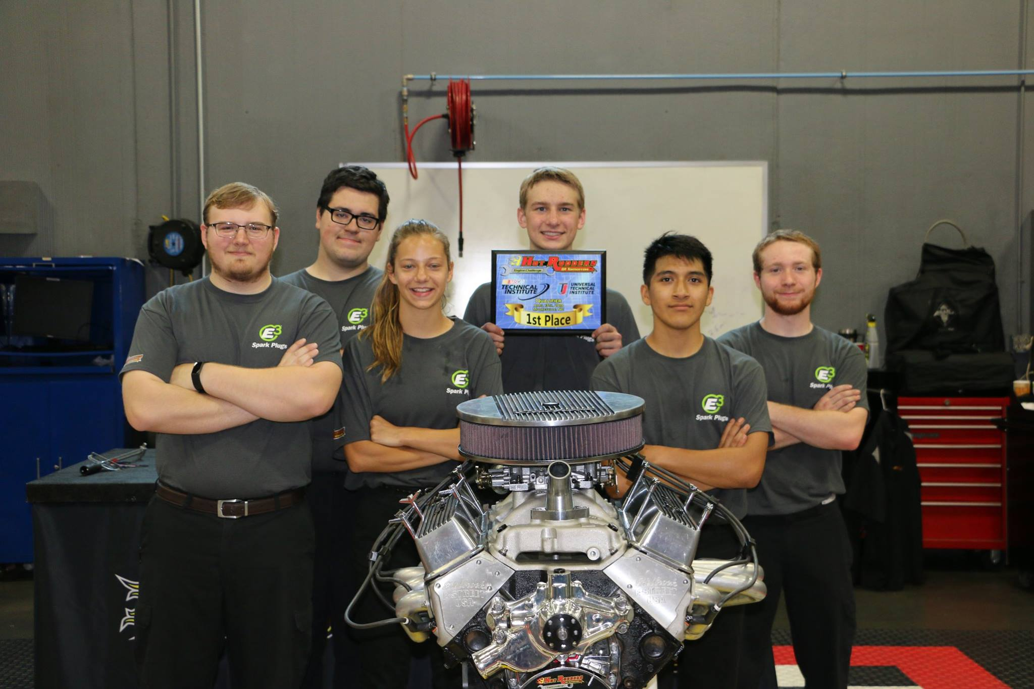 Team E3 from Forsyth Central High School in Cumming, Georgia won the Hot Rodders of Tomorrow qualfying round at Universal Techni