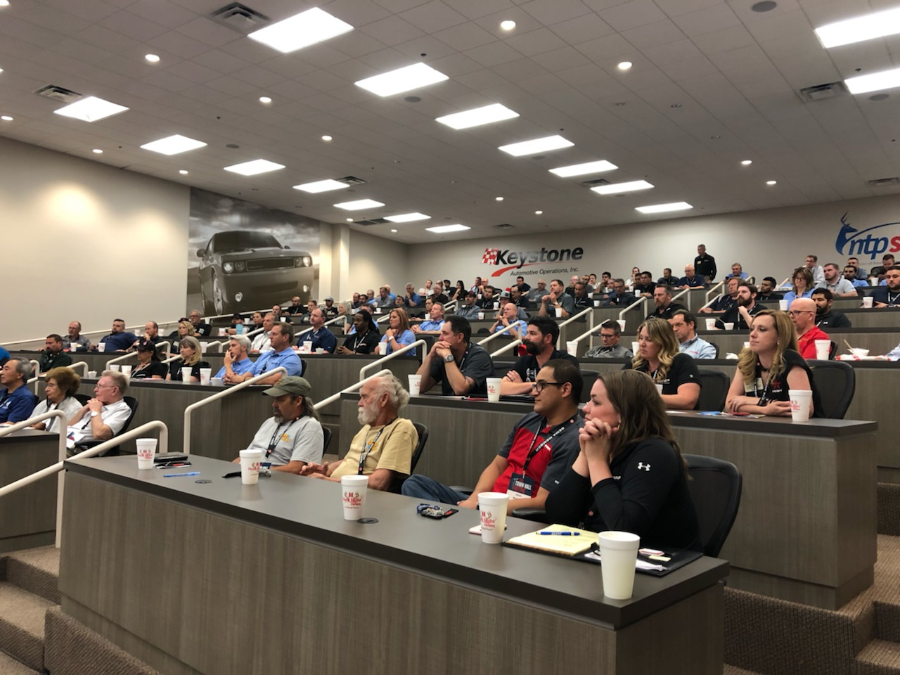 The Keystone Automotive Operations warehouse in Flower Mound, Texas hosted a SEMA Town Hall on May 7.