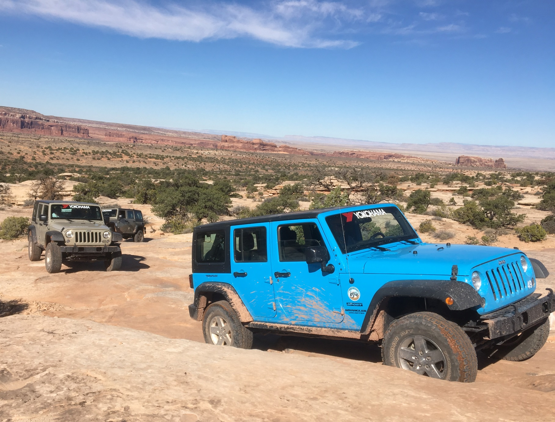Canyonlands Jeep Adventures, founded by Jason Taylor in 2004, rents off-road vehicles near Moab, Utah, Arches and Canyonlands Na