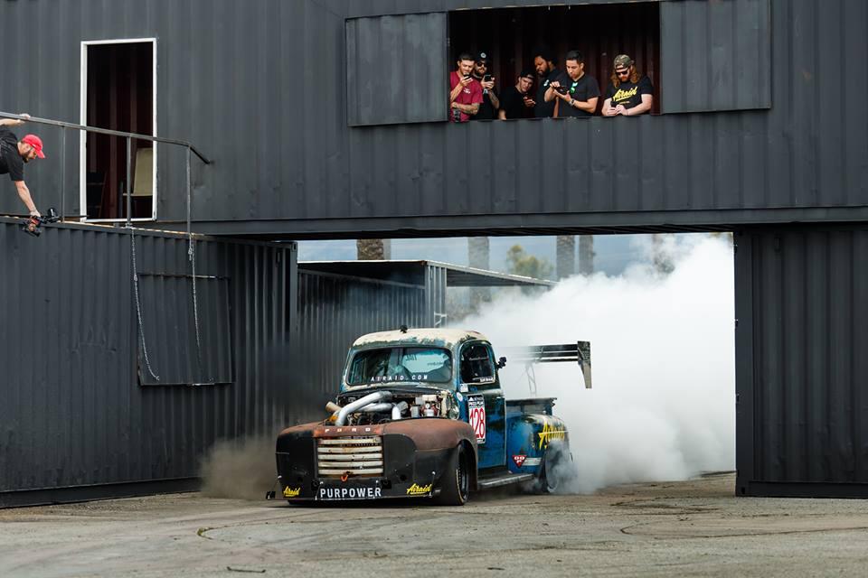 Scott Birdsall's Old Smokey, a 1400-horsepower 1949 Ford F1 truck. Photo courtesy of Chuckles Garage.