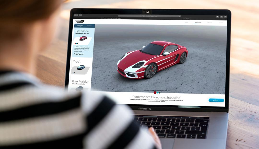 Porsche Digital's Second Skin configurator will feature classic vinyl wrap designs stemming from motorsports, and the ability to