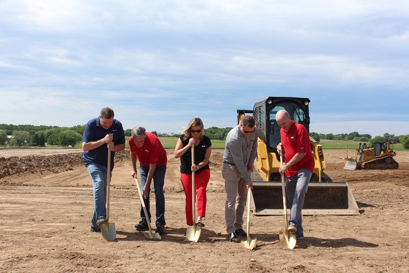 The QA1 leadership team recently broke ground on the company's new headquarters facility in Lakeville, Minnesota.