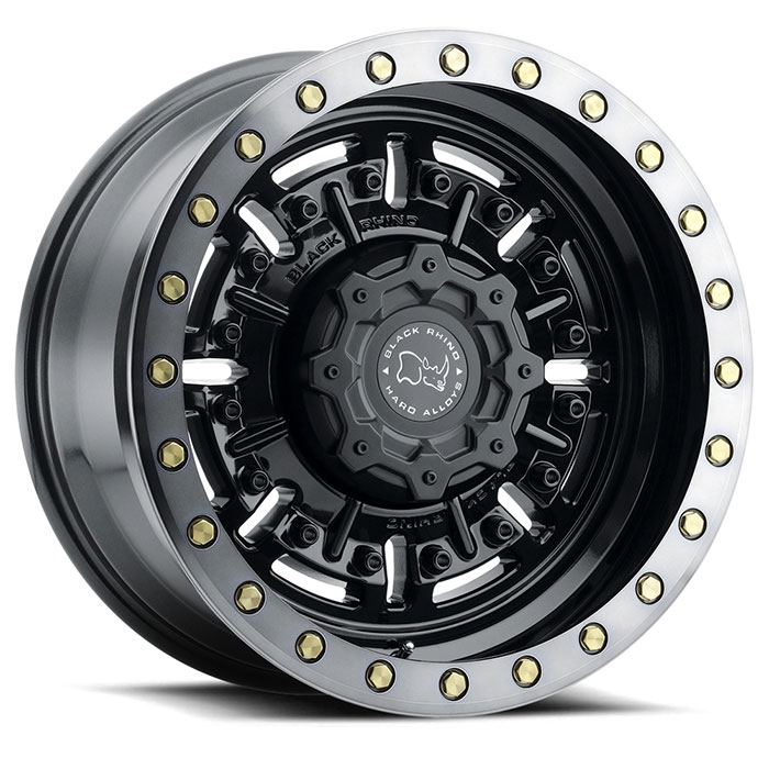 The Abrams truck wheel design by Black Rhino Wheels.