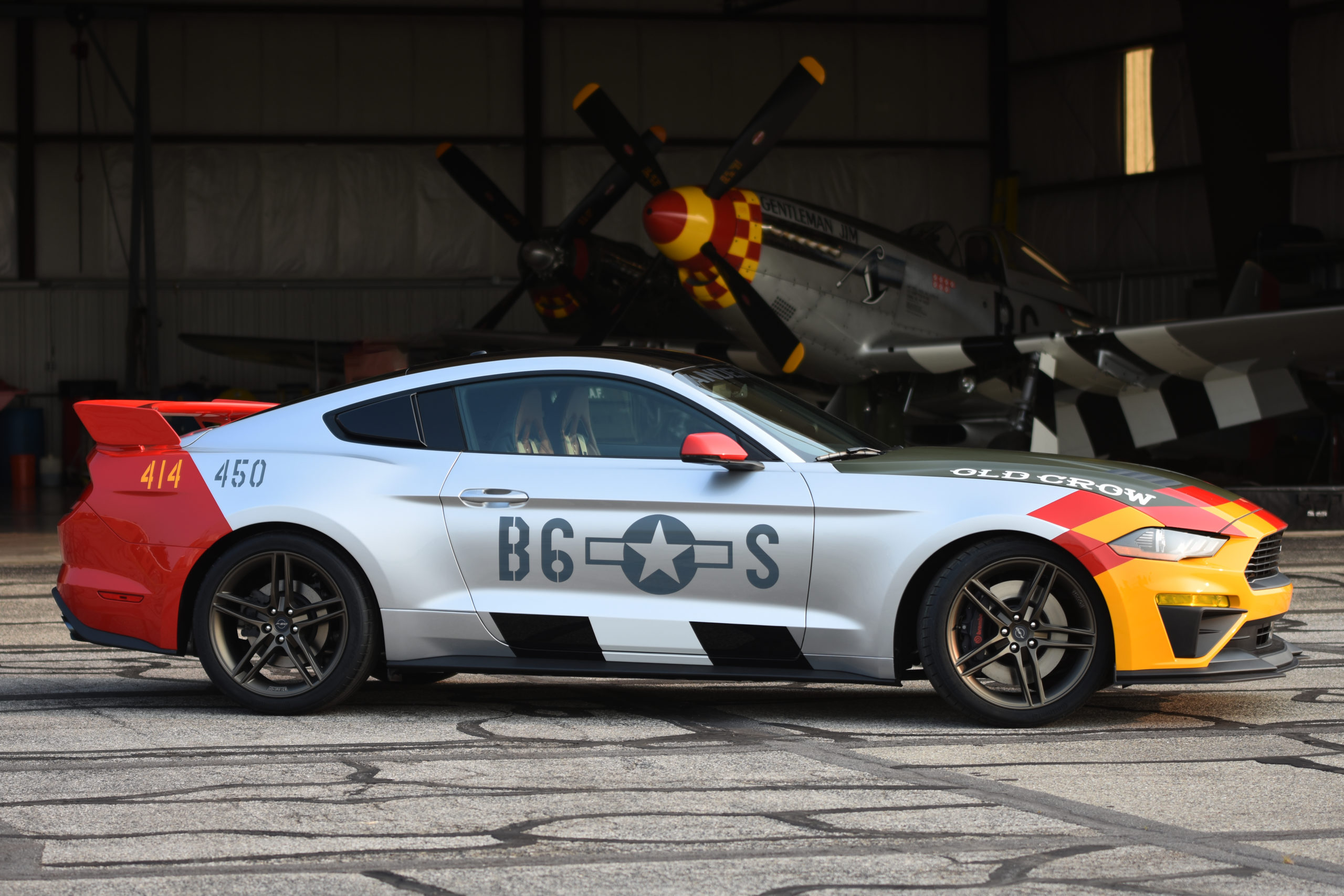 2019 Old Crow Mustang GT by Ford and Roush Performance pays homage to World War II triple ace pilot Colonel Bud Anderson.