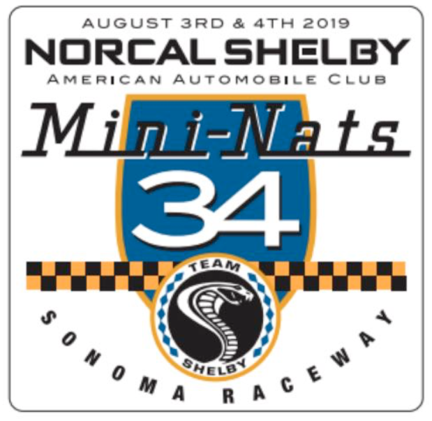 The 34th annual NorCal Shelby Mini-Nationalsare set for Aug. 3-4 at Sonoma Raceway in Sonoma, California