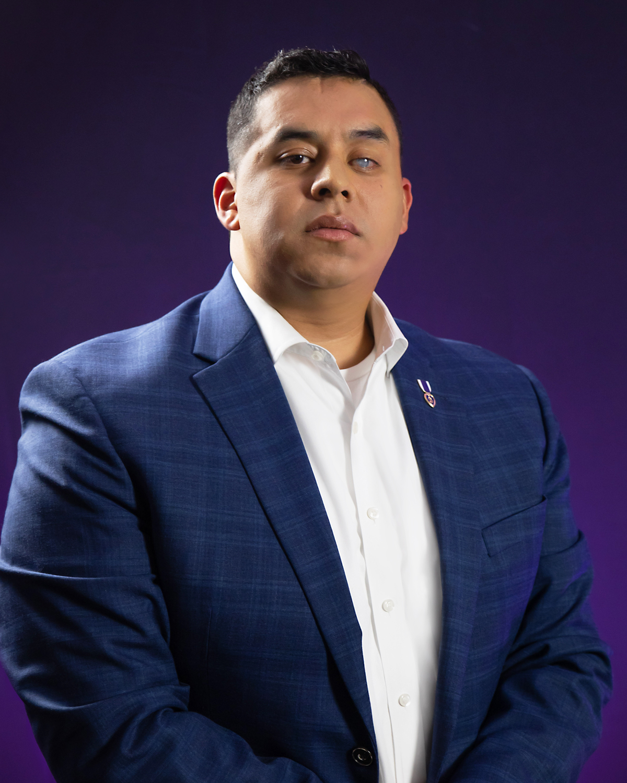 Marine Steven Diaz purple heart; IED explosion; permanent effects of traumatic brain injury (TBI), post-traumatic stress