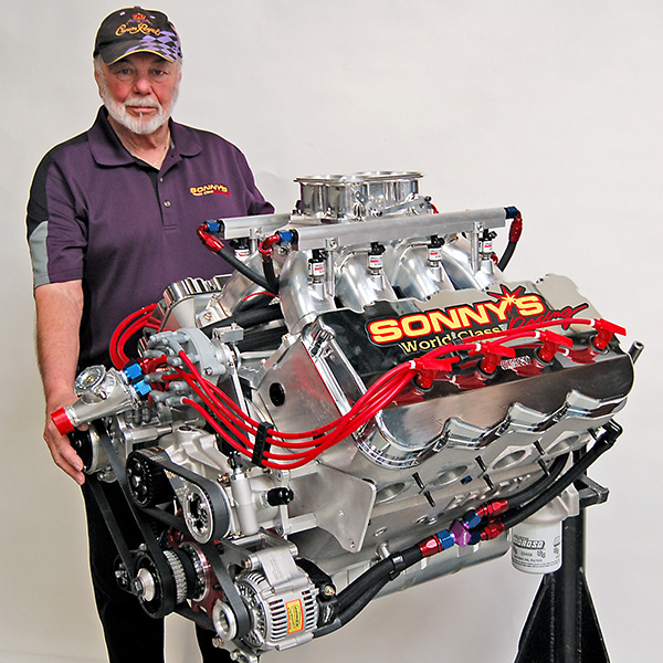 Sonny Leonard from Sonny's World Class Racing to raffle a high-performance engine during the PRI Trade Show,