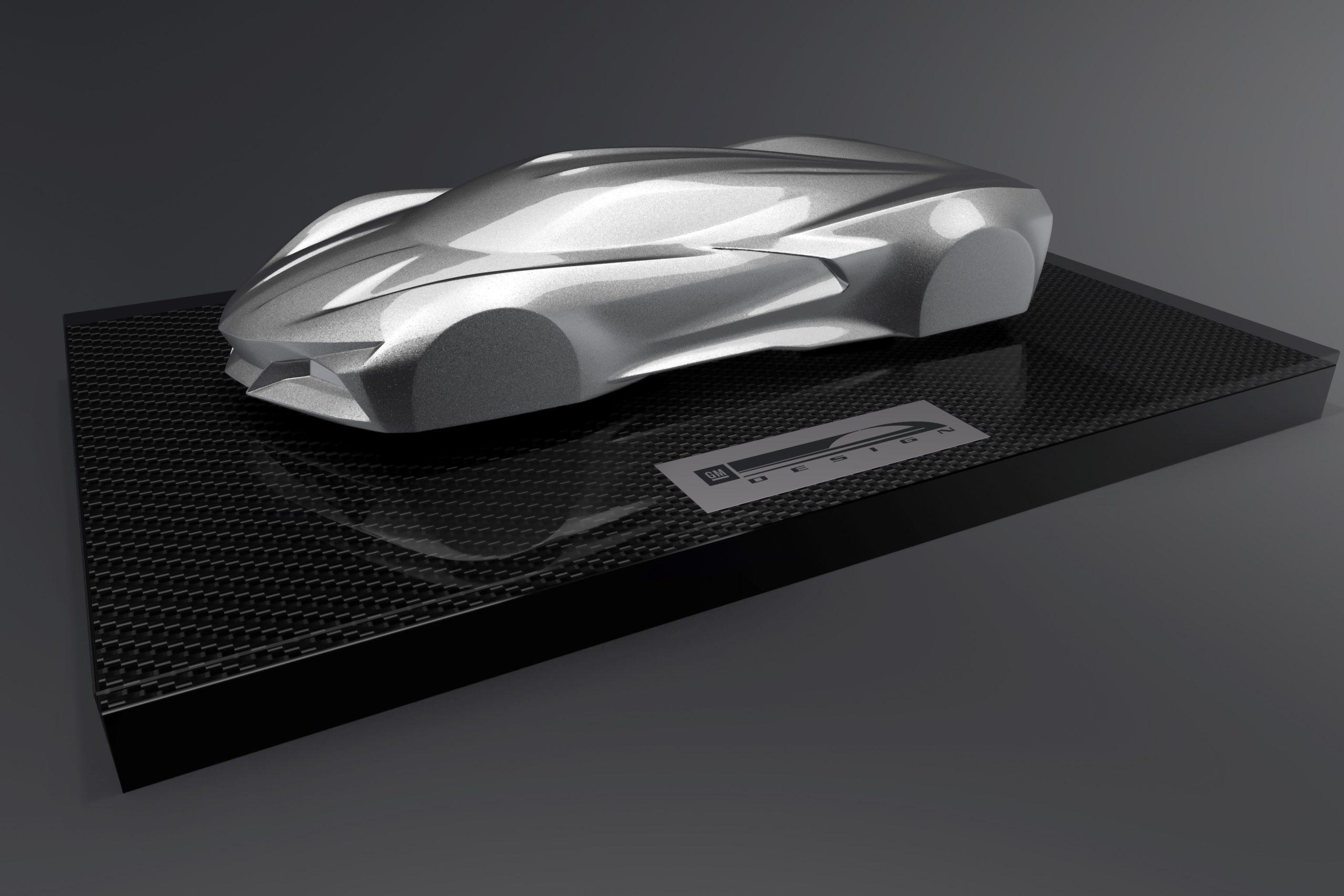 Newly designed next generation 2020 Corvette Stingray special edition trophy