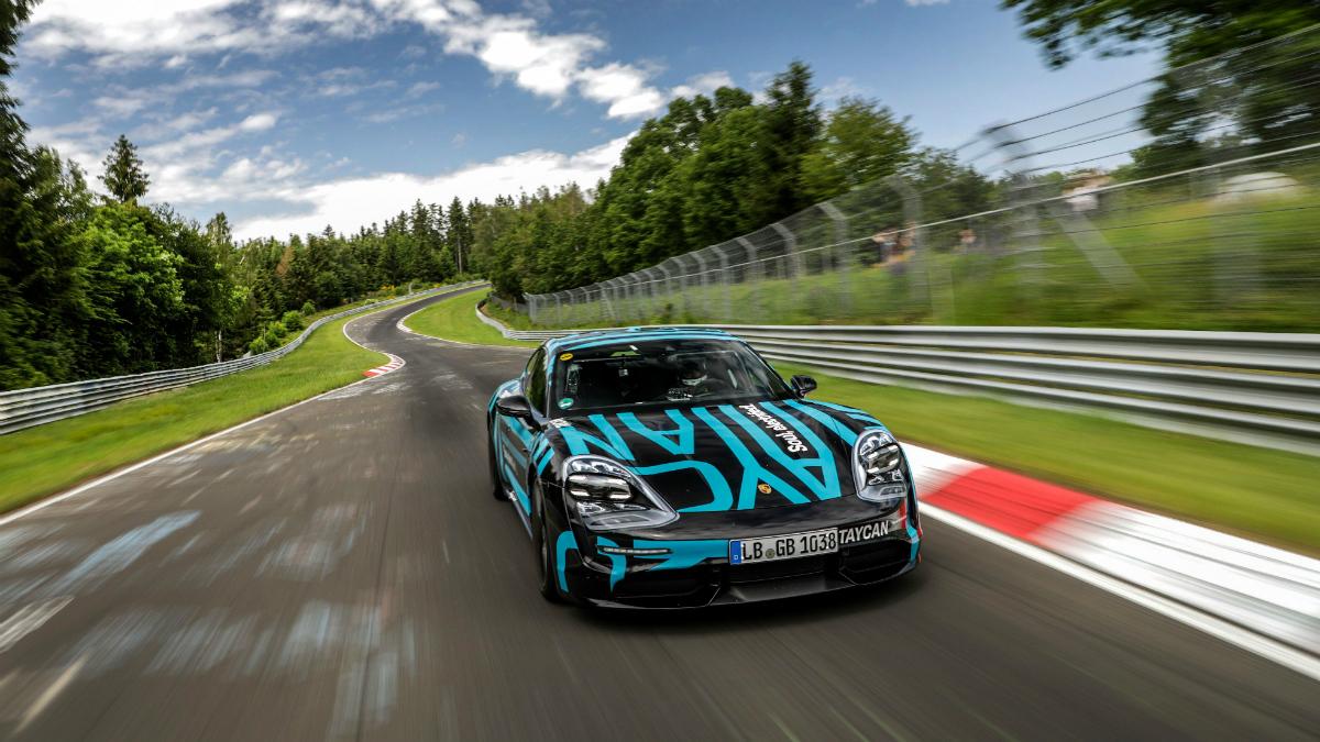 Porsche taycan nurburgring