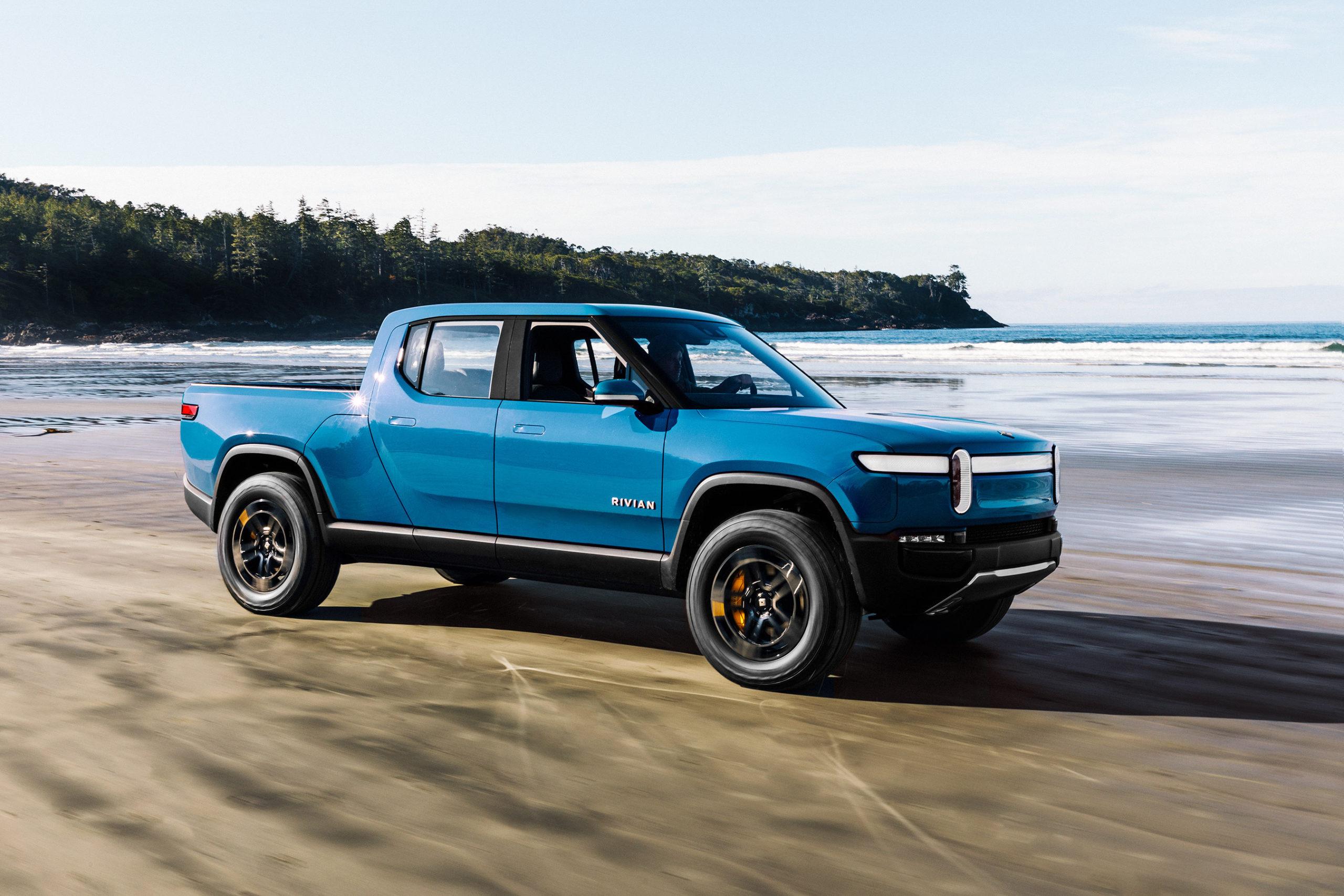 rivian truck beach