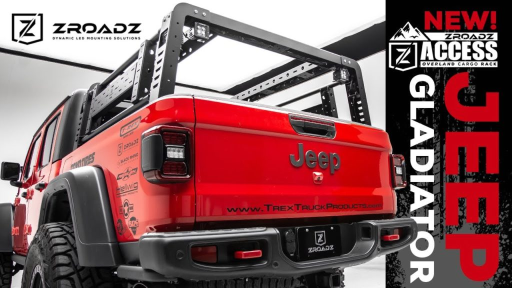 Jeep Gladiator Overland Access Rack With Side Gates From Zroadz The Shop Magazine
